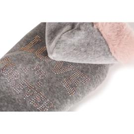 Love 4 ever sweatshirt Grey pink S