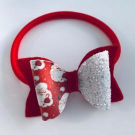 Red silver santa