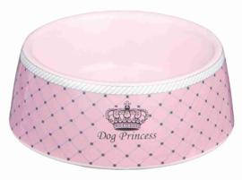Dog Princess Keramische Voer/Waterbak 0,18l/dia 12cm