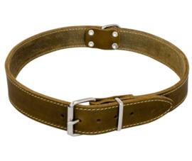 Vetleder halsband Groen 14mm X 35cm