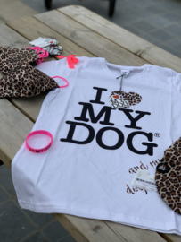 T shirt woman fluo leopard pink
