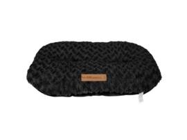 Shetland Oval Cushion 82x50 cm - L zwart