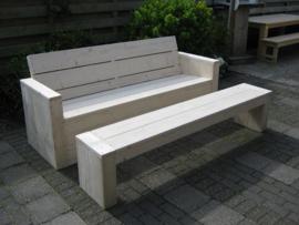 Loungebank smalle of brede zijkant