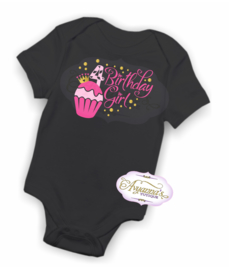 Verjaardag shirt cupcake birthday girl