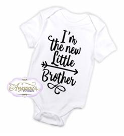 Newborn romper | New little brother