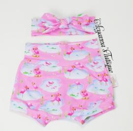 Shortie   Flamingo roze
