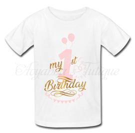 Verjaardag shirt | Verjaardag shirt ballonnen roze