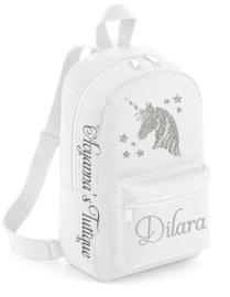 Rugtas met naam | Unicorn rugzak silhouette mini
