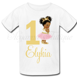 Verjaardag shirt |  princess afro puff