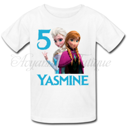 Verjaardag shirt Frozen