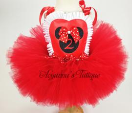 Tutujurk Minnie rood