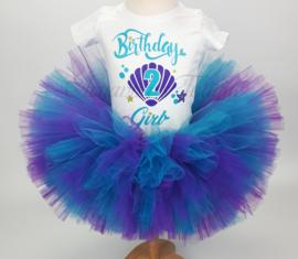 Verjaardag tutu set | Mermaid Birthday Girl