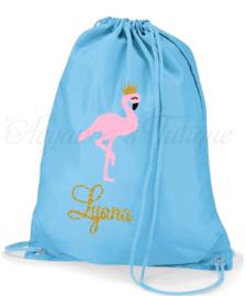 Gymtas met naam | Flamingo gymtas
