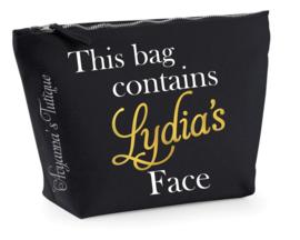 Toilettas this bag contains