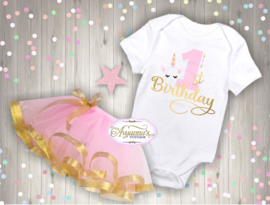 Verjaardag shirt unicorn birthday