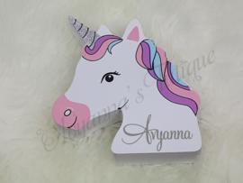 Spaarpot met naam | Unicorn spaarpot met naam