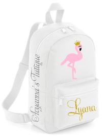 Rugzak met naam | Flamingo rugtas