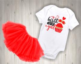 Verjaardag shirt Birthday girl cupcake
