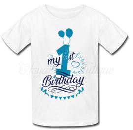 Verjaardag shirt | Verjaardag shirt ballonnen blauw