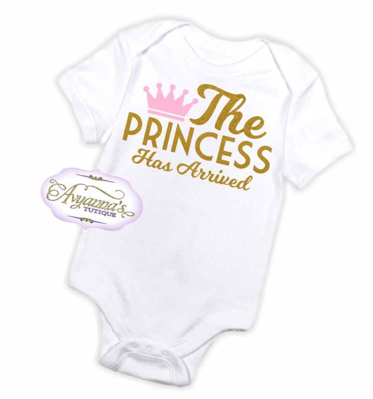 Newborn romper   The princess has arrived romper