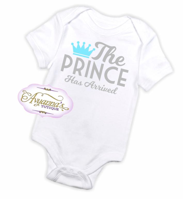 Newborn romper   The prince has arrived romper