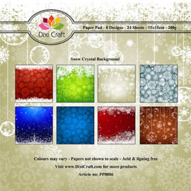 Dixi Paper Pack 15x15 cm snow crystal background