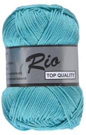 Rio katoen garen turquoise 452