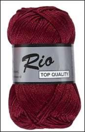 Rio katoen garen bordeaux rood 848