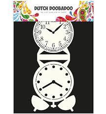 Dutch DooBaDoo Card Art Clock A4