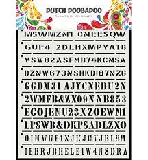 Dutch Doobadoo Dutch Mask Art tekst strip A5