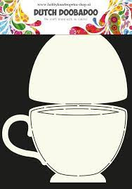 Dutch Doobadoo Card Art Tea Cup A4