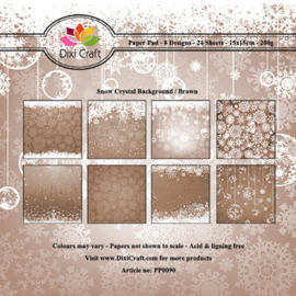 Dixi Paper Pack 15x15 cm snow crystal background - brown