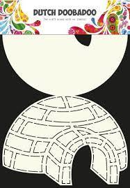 Dutch Doobadoo Dutch Card Art Stencil iglo A4