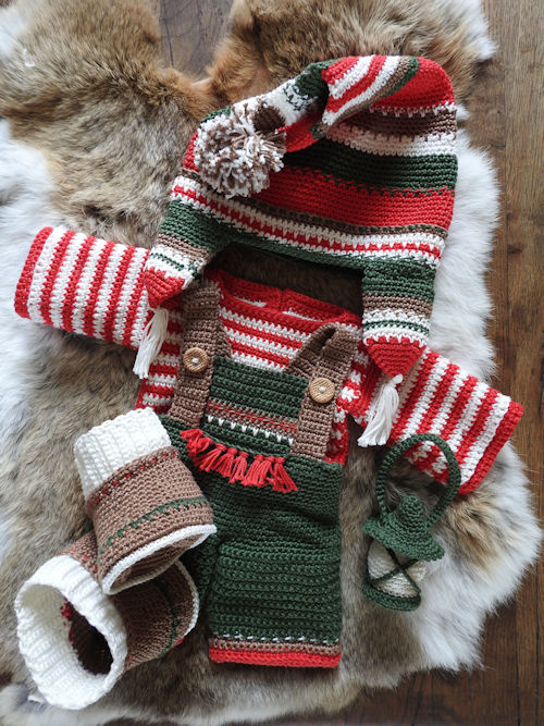 XXL Funny kledingset Christmas Classic boy