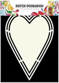 Dutch Doobadoo Dutch Shape Art label hart A5