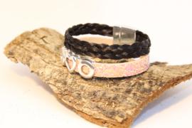 Paardenhaar armband BraidPink