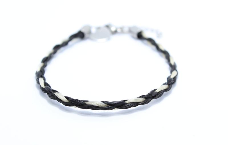 Paardenhaar Armband Roos stainless steel