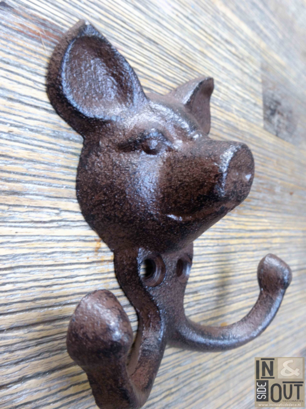 Cast Iron Coat Hook With Pig S Head