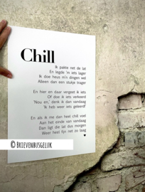 A3-poster CHILL