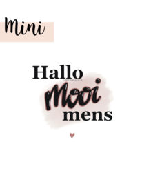Hallo mooi mens - mini