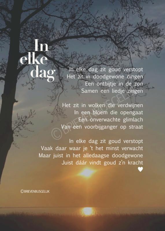 A4-poster 'In elke dag'