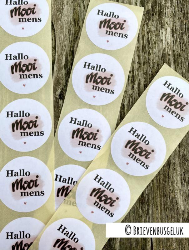 Hallo mooi mens - sticker