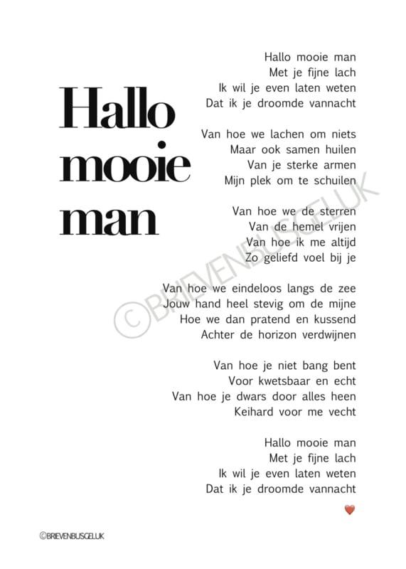 Hallo mooie man - A5