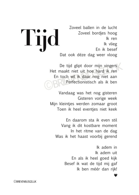 Tijd - A5
