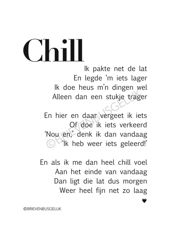 Forex-plaat CHILL