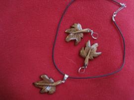 Halsketting druivenblad