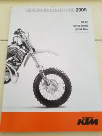 KTM SX 50 HANDLEIDING MODELJAAR 2009 DUITS