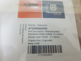 KTM SX 85 / HUSQVARNA TC 85 ORG. REMSCHIJF  VOORREM  2017 - 2020 NIEUW