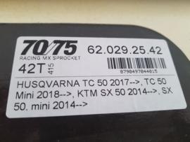 KTM SX 50 / HUSQVARNA TC 50 MOTO-MASTER ACHTERTANDWIEL ALU ORANJE 42 TANDS 2014 - 2021