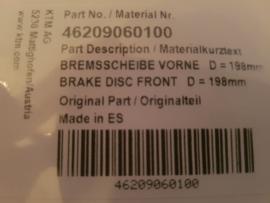 KTM SX 65 / HUSQVARNA TC 65 ORIGINELE REMSCHIJF VOORREM 2002 - 2020 NIEUW
